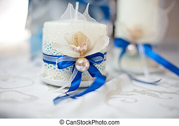 Wedding candle with decor