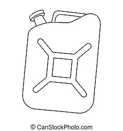 Canister single icon in outline style.Canister vector symbol...