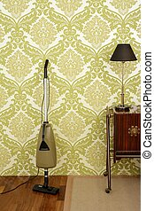 Retro vacuum cleaner vintage sixties wallpaper - Retro...