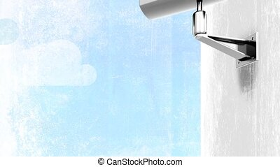 CCTV Searching and Finding HD - Animation of a CCTV Camera...