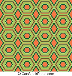 Seamless pattern with hexagonal shapes