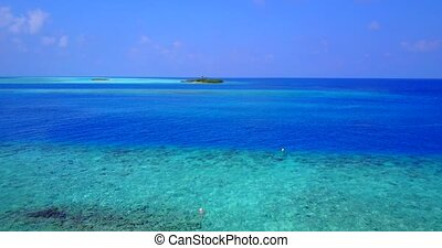 v05908 Aerial flying drone view of Maldives white sandy...