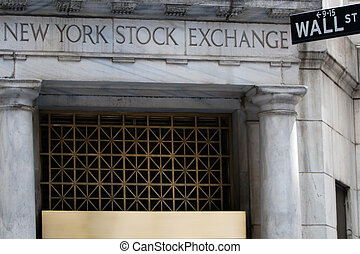 Stock exchange entrance, New York