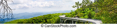 Linn Cove Viaduct - Panoramic view of the Linn Cove Viaduct....