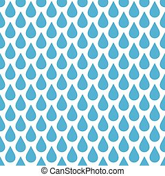 Blue rain drop seamless pattern background. Water and bad...