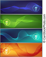 medicine banners - Set of colorful medicine banners