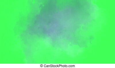 Time lapse clouds on green screen