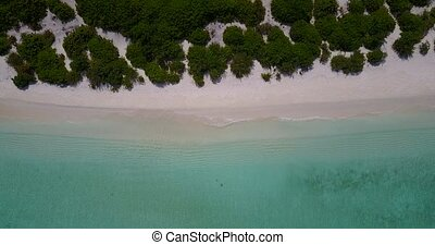 v05440 Aerial flying drone view of Maldives white sandy...