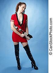 Sexy sci-fi girl
