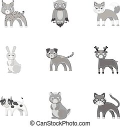 Farm, production, zoo and other web icon in monochrome...