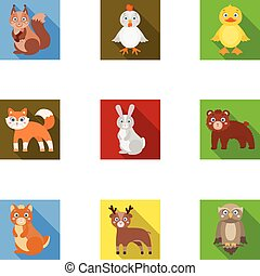 Farm, production, zoo and other web icon in flat style....