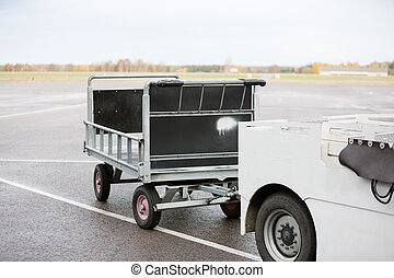 Vehicle With Trailer On Runway - Vehicle with trailer on...
