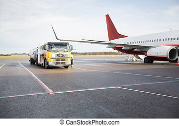 Fuel Truck By Airplane - Fuel Truck by commercial airplane...