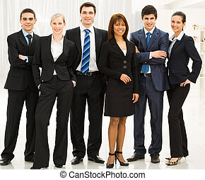 Business team - Portrait of confident business group...