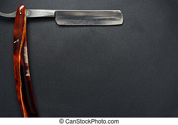 Old Classic Straight Razor - Very old rusty classic straight...