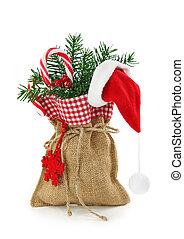 Sack with christmas presents