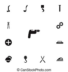 Set Of 13 Editable Instrument Icons. Includes Symbols Such...