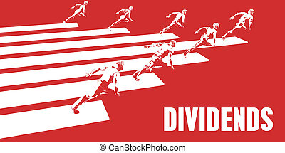Dividends with Business People Running in a Path