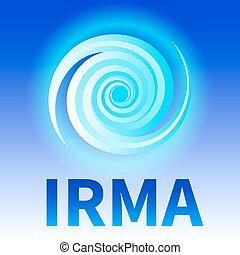 Symbol of hurricane Irma - Graphic banner of hurricane Irma....
