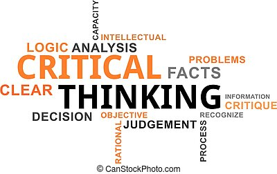 word cloud - critical thinking - A word cloud of critical...