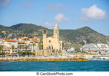 View on the Sitges city