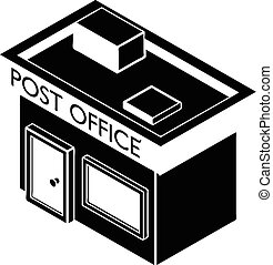 Post office icon, simple style