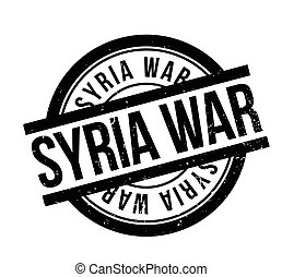 Syria War rubber stamp. Grunge design with dust scratches....