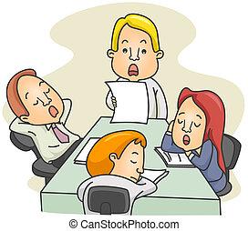 aburrido, reunión