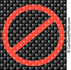abstract prohibition sign - abstract colored background...