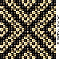 brown and yellow glossy blocks - abstract colored background...