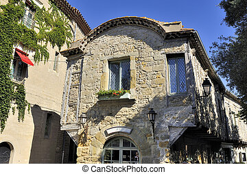 medieval house in an alley of the fortified city of...