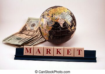 World Market Business Economy Globe - A world globe with...