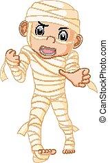 Cartoon Egyptian mummy - illustration of Cartoon Egyptian...