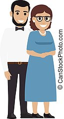 Married Middle Aged Couple. Average Family Vector - Married...