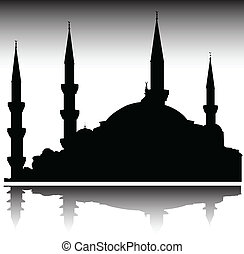 mosque vector silhouettes