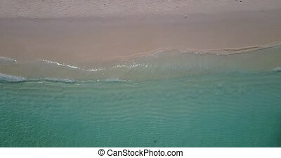 v05331 Aerial flying drone view of Maldives white sandy...