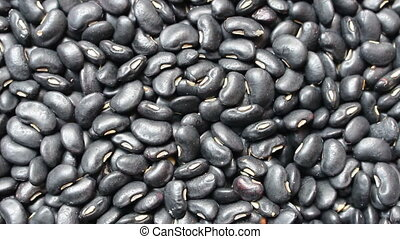 black beans background, rotation shot