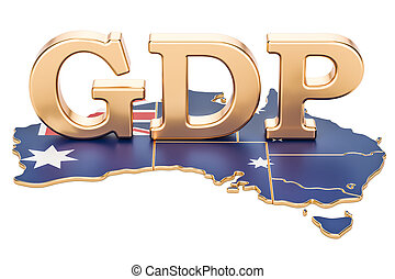gross domestic product GDP of Australia concept, 3D...
