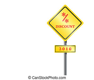 Traffic sign discount vector.