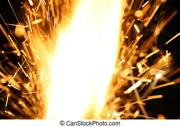 abstract spark danger flame background