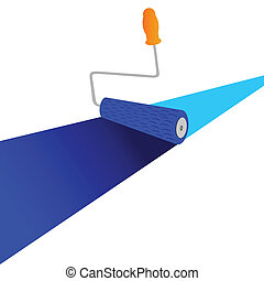 painting line with roller vector