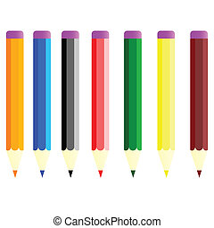 paint pens in color vector