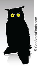 owl vector silhouettes