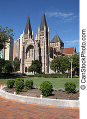 Australia - Brisbane - Cathedral Square with St. John's...