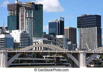 Australia - Brisbane - Brisbane skyline, Queensland....