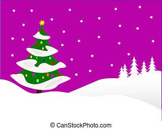 Christmas snowy scene