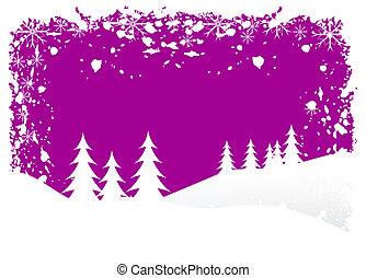 Grunge Christmas Vector Background