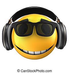 3d yellow emoticon smile - 3d illustration of yellow...
