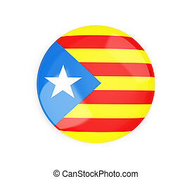 badge Catalan nationalist flag on a white background 3D...