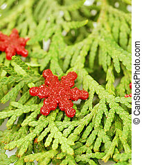 Pine branch with ornament